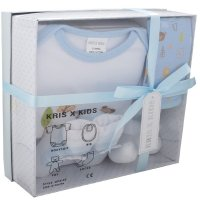 3195B: Blue 4 Piece Luxury Boxed Gift Set (0-3 Months)