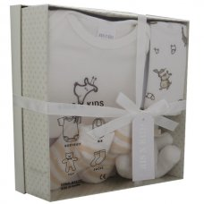 3195C: Cream 4 Piece Luxury Boxed Gift Set (0-3 Months)