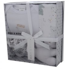 3195W: White 4 Piece Luxury Boxed Gift Set (0-3 Months)