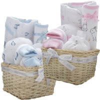 3312: 6 Piece Luxury Basket Gift Set (0-3 Months)