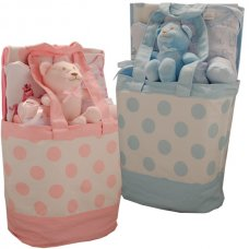 3321PB: 9 Piece Luxury Tote Bag Gift Set (0-3 Months)