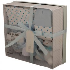 3322B: Blue 7 Piece Luxury Boxed Gift Set (0-3 Months)