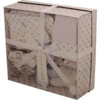 3322W: White 7 Piece Luxury Boxed Gift Set (0-3 Months)