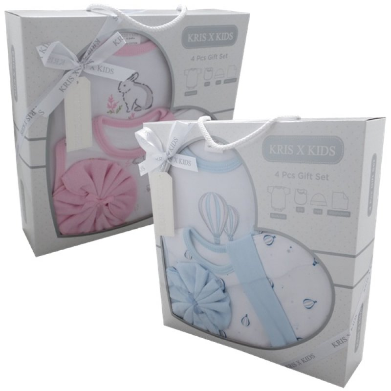 3328: 4 Piece Luxury Boxed Gift Set (0-3 Months)