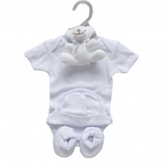 3333: Baby Unisex 5 Piece Luxury Hanging Gift Set (0-3 Months)