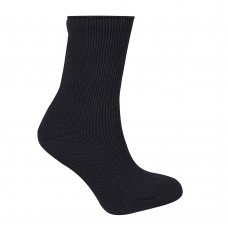 42B307: 1 Pair Plain Black Thermal Socks (Tog Rating 2.45)