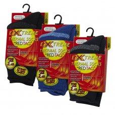 42B309: Boys 1 Pair Stripe Thermal Socks (Tog Rating 2.45)