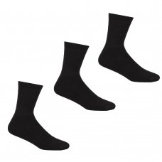 42B414: Boys 3 Pack Black Sports Socks