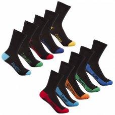 42B452: Boys 5 Pack Days Of The Week Heel & Toe Socks (Mon- Fri)