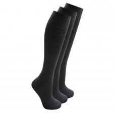 43B428: Girls 3 Pack Grey Knee High Socks