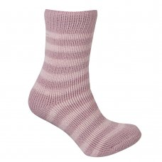 43B318: Girls 1 Pair Stripe Thermal Socks (Tog Rating 2.45)
