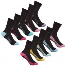 43B460: Girls 5 Pack Days Of The Week Heel & Toe Socks (Mon-Fri)