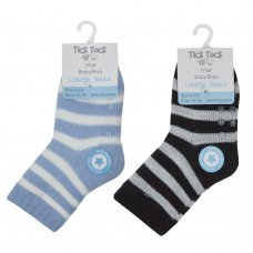 44B843: Baby Boys 1 Pair Lounge Socks With Grippers (Assorted Sizes)