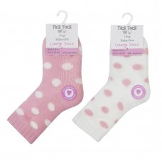 44B844: Baby Girls 1 Pair Lounge Socks With Grippers (Assorted Sizes)