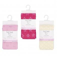45B123: Babies Textured Nylon Tights (0-24 Months)