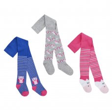 45B125: Babies Assorted Design Tights (0-24 Months)