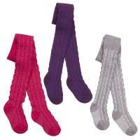 45B117: Babies 1 Pair Cable Tights (0-24 Months)