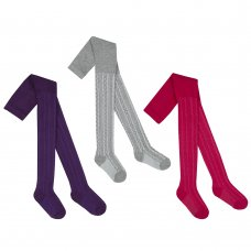 46B200: Girls Assorted Cable Tights (2-8 Years)