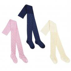 46B404: Girls Textured Nylon Tights (2-8 Years)