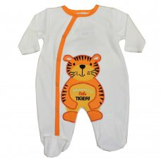 50JTC559: Baby Tiger Velour All In One (0-9 Months)