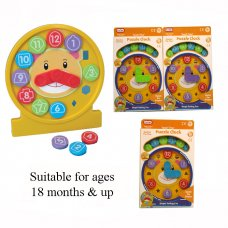 55064: Teach Time Puzzle Clock (18+ Months)
