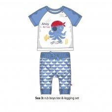 Sea 3P: Tee & Legging Set (12-24 Months)