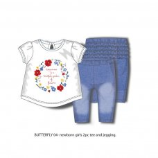 Butterfly 4P: Tee & Jegging Set (12-24 Months)