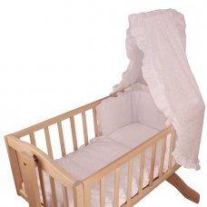 Cream Satin Teddy Baby 3pce Crib Set
