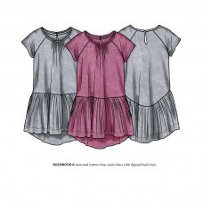 Rosewood 6P: Textured Cotton Drop Waist Dress (8-13 Years)