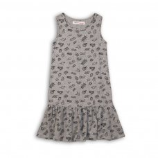 KGB DRESS 13P: Grey Aop Dress (8-13 Years)