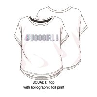 Squad 1P: Loose Fit Printed T-Shirt (8-13 Years)