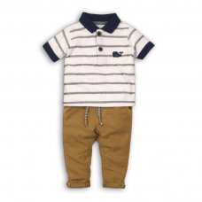 Wave 7P: 2 Piece Polo Top & Chino Pant Set (12-24 Months)