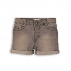 DENIM SHORT 8P: Grey Denim Short (8-13 Years)