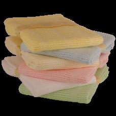 Bee Bo Soft Cotton Cellular Cot Blanket- Lemon (100 x 150 CM)