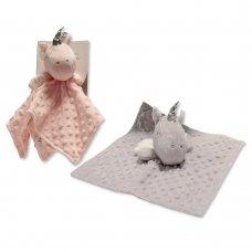 GP-25-0944G: Baby Unicorn Dimple Comforter- Grey