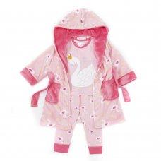 15C454: Infant Girls Swan Pyjama (2-6 Years)