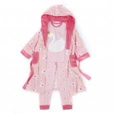 15C452: Older Girls Swan Pyjama (7-13 Years)