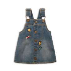 Run 11P: Washed Denim Pinafore (3-8 Years)