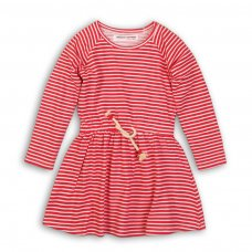 GW DRESS 15P: Girls Red/White Stripe Dress (8-13 Years)
