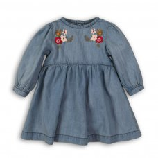 Deer 9P: Denim Embroidered Dress (12-24 Months)