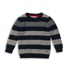 Dept 8P: Striped Textured Knit Jumper (3-8 Years)