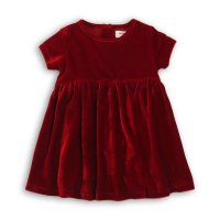 Dress Up 4P: Mix Fabric Dress With Pleated Detail (12-24 Months)