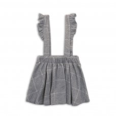 Mix 1P: Checked Swing Skirt With Straps (3-8 Years)
