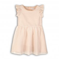 Time 4P: Organza Mesh Striped Dress (3-8 Years)