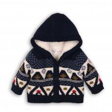Wheelie 4P: Hooded Fur Lined Cardigan (12-24 Months)