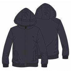 BW FLEECE 12P: Boys Dark Navy Fleece Zip Thru (8-13 Years)