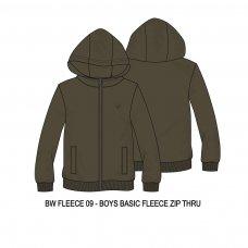 BW FLEECE 9P: Boys Khaki Fleece Zip Thru (8-13 Years)