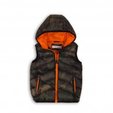 PAD 24P: Boys Camo Gilet (8-13 Years)