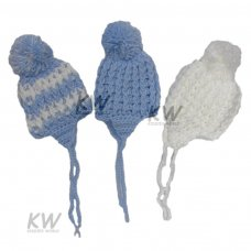 CL4253: Baby Boys Knitted Hat (NB-3 Months)