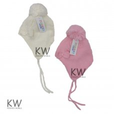 6070: Baby Girls Nepalese Fleece Lined Hat (6-18 Months)